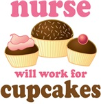 Funny Cupcake Nurse T-shirts and Gifts