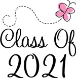 Butterfly Class Of 2021 T-shirts