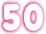 Big Pink 50 Fiftieth Birthday T-shirts