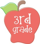 Third  Grade Stitch Apple T-shirts and Gifts