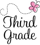 3rd Grade Butterfly T-shirts and Gifts