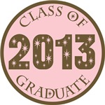 Pink Stars Class Of 2013 T-shirt Gifts