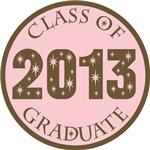 Pink Stars Class Of 2013 T-shirt Gifts