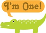 1st Birthday Alligator I'm One T-shirts
