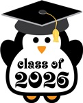 Penguin Class Of 2026 T-shirts and Graduation Gift