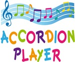Colorful Accordion Player T-shirts and Gifts