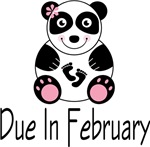 Panda Mom Due In February T-shirts