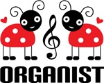 Cute Music Ladybug Organist Gifts and Tees