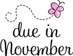 Cute November Due Date Butterfly