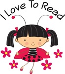 I Love To Read Ladybug Girl T-shirts