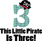 Pirate 3rd Birthday T-shirts