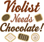 Viola Chocolate Humor Music T-shirts
