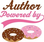 Author Powered By Doughnuts Gift T-shirts