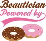 Beautician Powered By Doughnuts Gift T-shirts