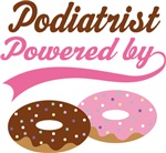 Podiatrist Powered By Doughnuts Gift T-shirts