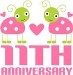 Eleventh Anniversary Pink Ladybug T-shirts