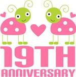 19th Anniversary Pink Ladybug T-shirts
