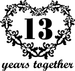 13th Anniversary Heart Gifts Together