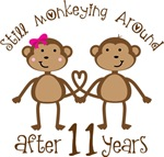 11th Anniversary Funny Monkey Gifts