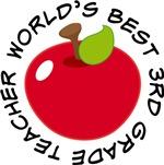 World's Best 3rd Grade Teacher Apple Gifts