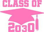 Future Class Of 2030 Pink Graduation Apparel
