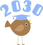 Class Of 2030 Bird Kids T shirts