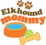 Elkhound Mommy Pet Mom Gifts and T-shirts