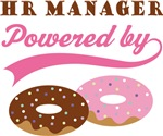 HR Manager Powered By Doughnuts Gift T-shirts