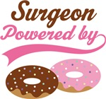 Surgeon Powered By Doughnuts Gift T-shirts