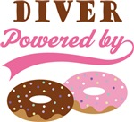 Diver Powered By Doughnuts Gift T-shirts