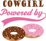 Cowgirl Powered By Doughnuts Gift T-shirts