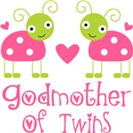 Godmother Of Twins T-shirts and Mugs