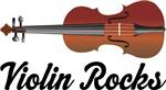 Violin Rocks Music T-shirts and Gifts