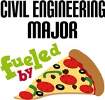 CIVIL ENGINEERING MAJOR FUELED BY PIZZA T-SHIRTS