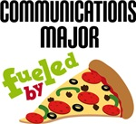 COMMUNICATIONS MAJOR FUELED BY PIZZA T-SHIRTS