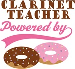 Clarinet Teacher Powered By Donuts Gift T-shirts