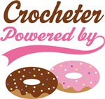 Crocheter Powered By Donuts Gift T-shirts