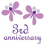 3rd Anniversary Gift Purple Butterfly
