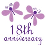 18th Anniversary Gift Purple Butterfly