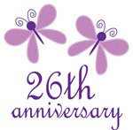 26th Anniversary Gift Purple Butterfly