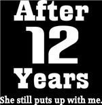 Funny 12th Anniversary Quote T-shirts and Gifts