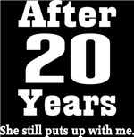 Funny 20th Anniversary Quote T-shirts and Gifts