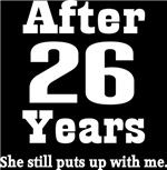 Funny 26th Anniversary Quote T-shirts and Gifts