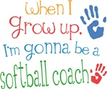 Future Softball Coach Kids T-shirts