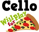 Cello Will Play For Pizza T shirts