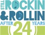 24th Anniversary Rock N Roll Tshirts