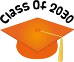 2030 School Class Graduation (Orange)