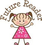 Future Reader Stick Girl T-shirts