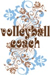 Pretty Volleyball Coach T-shirts and Gifts