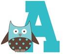 Owl Alphabet Letter Monogram T-shirts